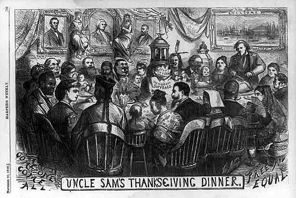Thomas Nast Uncle Sam's Thanksgiving Dinner