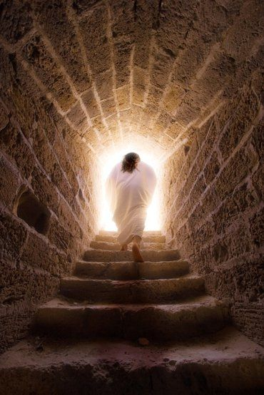 Jesus Exiting Tomb