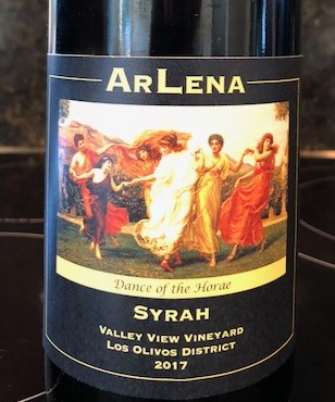 My 2017 Syrah Bottle Photo