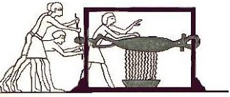 Egyptian wine press tourniquet