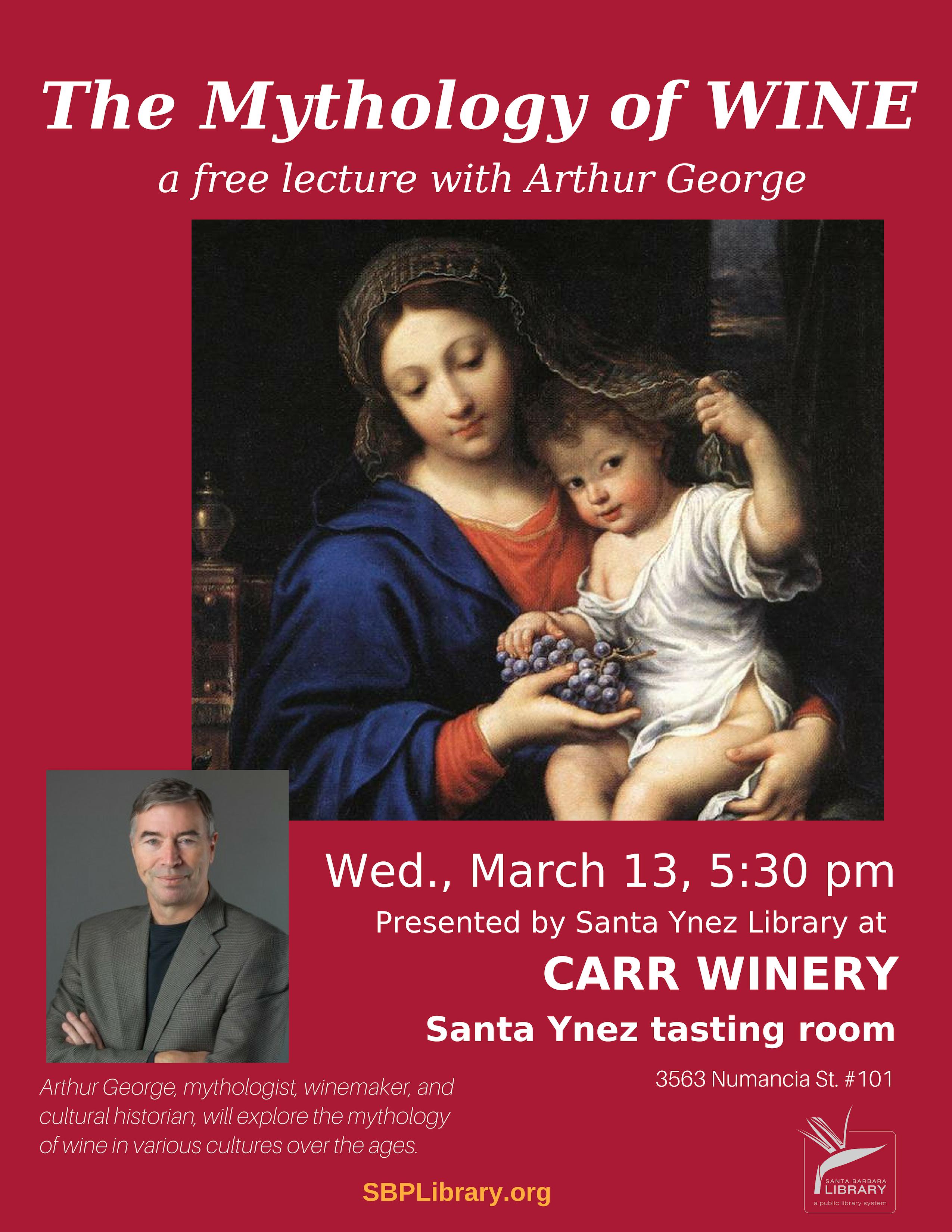 Carr Winery talk flyer